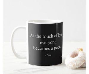 coffee, coffee mug, and plato image