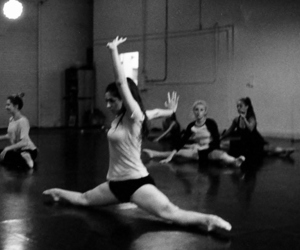 black&white, contemporary dance, and dancer image