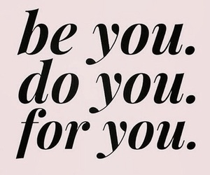 be yourself, quote, and pink&black image