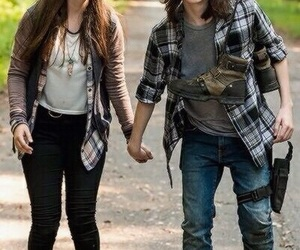 enid, the walking dead, and carl grimes image