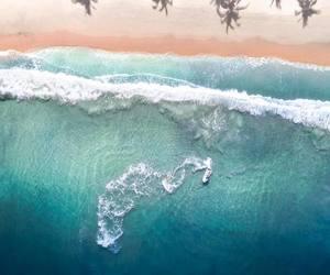 exotic, foam, and ocean image