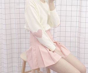 girly, pink, and sweet image