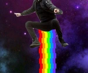 meme, mood, and rainbow image