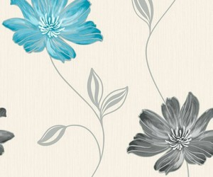 background, black and blue, and blue flower image