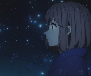 anime girl, galaxy, and kyoto animation image