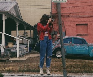 girl, vintage, and grunge image