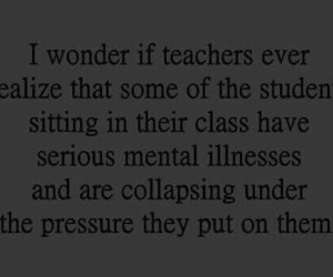 school, depressed, and depression image