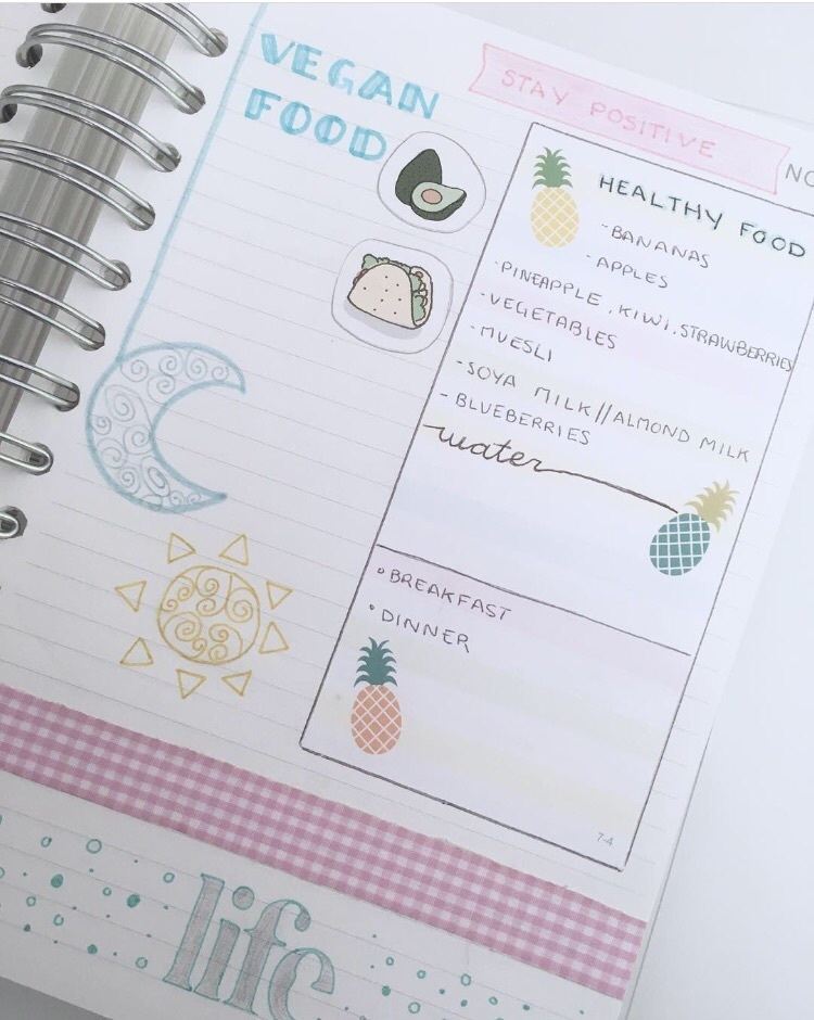 agenda, healthy, and inspiration image