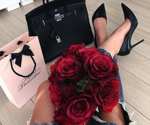 rose, flowers, and luxury image