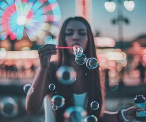lights, photography, and bubbles image