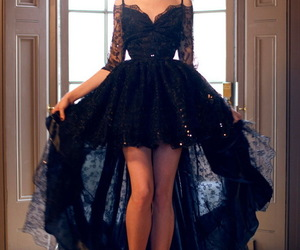 evening dress, sweetheart, and prom gown image