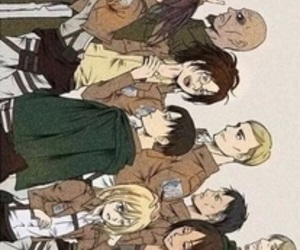 fanart, group, and attack on titan image