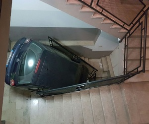 car, fall, and stairs image