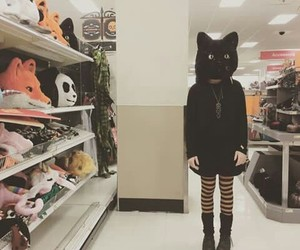 cat, weird, and black image