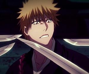 Ichigo, sword, and zanpakuto image