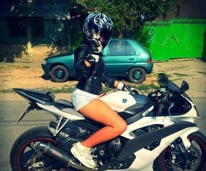 girl, motorcycle, and motorbike image