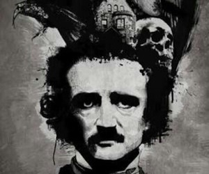 edgar allan poe, poe, and raven image