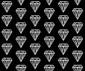 diamond, wallpaper, and black image