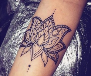lotus, tattooart, and flower image