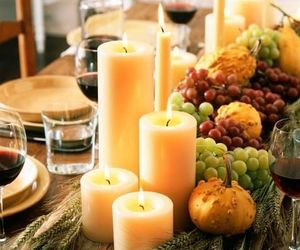 candle, diy, and fall image