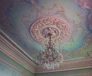 chandelier, art, and vintage image