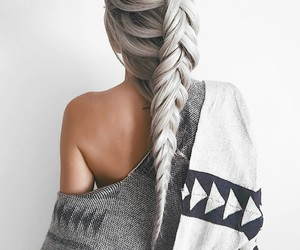 aesthetic, beauty, and braids image