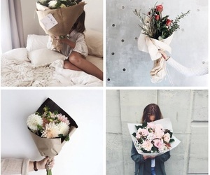 aesthetic, flowers, and gift image