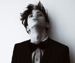 boy, smoke, and black and white image