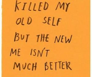 quotes, orange, and sad image