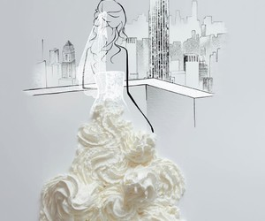 art, new york, and bride image