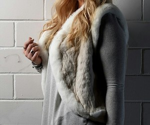 fur coat, hair, and singer image