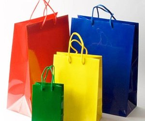 kraft paper bags, christmas gift bags, and paper carrier bags image