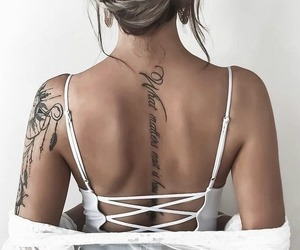 fashion, hair, and tattoo image