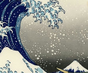 waves, art, and japanese image