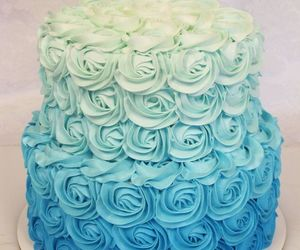cake, blue, and dessert image