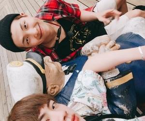 bts, jin, and namjoon image