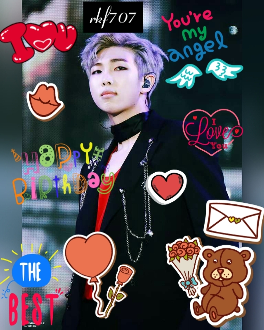 article, happy b-day, and rap mon image