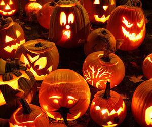 Halloween, pumpkin, and light image