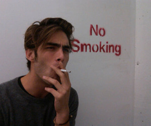 boy, smoking, and smoke image