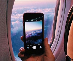 airplane, inspiration, and nature image