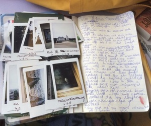 polaroid, journal, and memories image