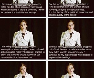 emma watson, gender equality, and feminism image