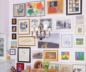 diy, picture frames, and gallery wall image