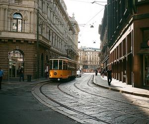 city, milan, and tram image