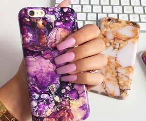 case, nails, and phone image