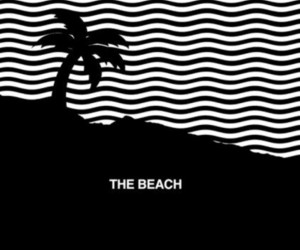 the beach, black, and wallpaper image