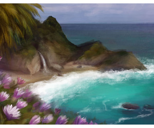 art, big sur, and painting image