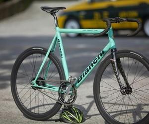 bike, blue, and fixie image