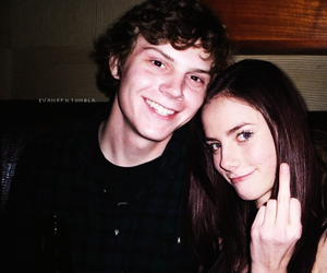 evan peters, KAYA SCODELARIO, and skins image
