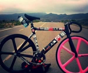 bike, fixie, and pink image